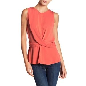 NWT Naked Zebra Salmon Color Front Twist Tank Top